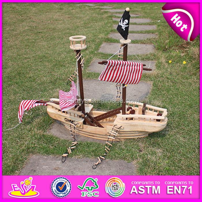 Promotional Diy 3d Wooden Toy Pirate Shiphandmade Kid Wooden Pirate Ship Toywooden Toy Pirate Ship For Exhibition W03b001 Buy Toy Pirate Shiptoy