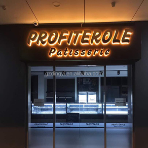 Illuminated metal channel letters led backlit outdoor electrical signs for shops and stores
