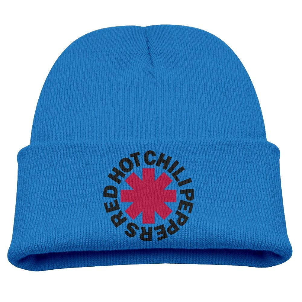 382c2f0b840ca Get Quotations · Kids Red Hot Chili Peppers RoyalBlue Knitted Hat Beanies  Cap