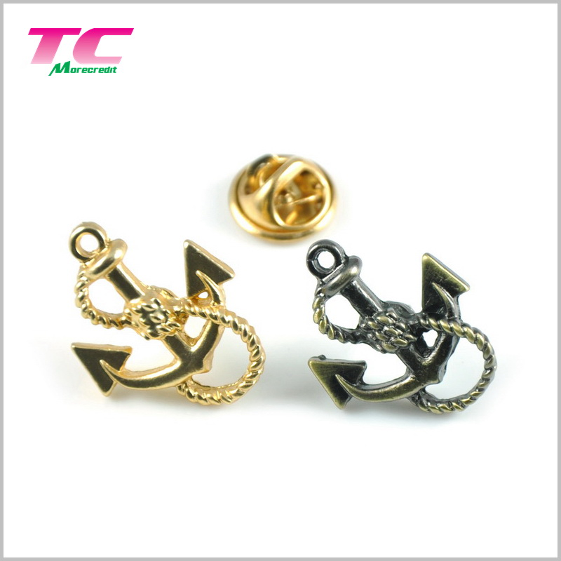 Bespoke Eco-Friendly Metal Lapel Pins Durable Anchor Lapel Pins For Gift