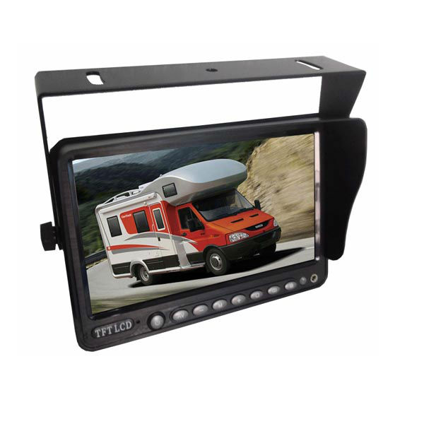 "7"" Car Monitor with Wireless CCD Mounted RV Backup Camera"