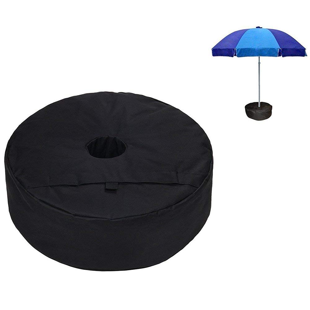Get Quotations Biowow 18 Inch Cantilever Umbrella Weights Bag Heavy Duty Ballistic Polyester Round Outdoor Sand