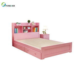 Solid Wood Children'S Bed Multi-Function Single Bed 1.5 M Princess Bed