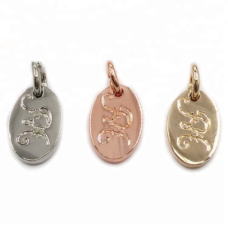 Alloy Custom Pendant Charms Logo Engraved Jewelry Charms for Bracelet Making фото