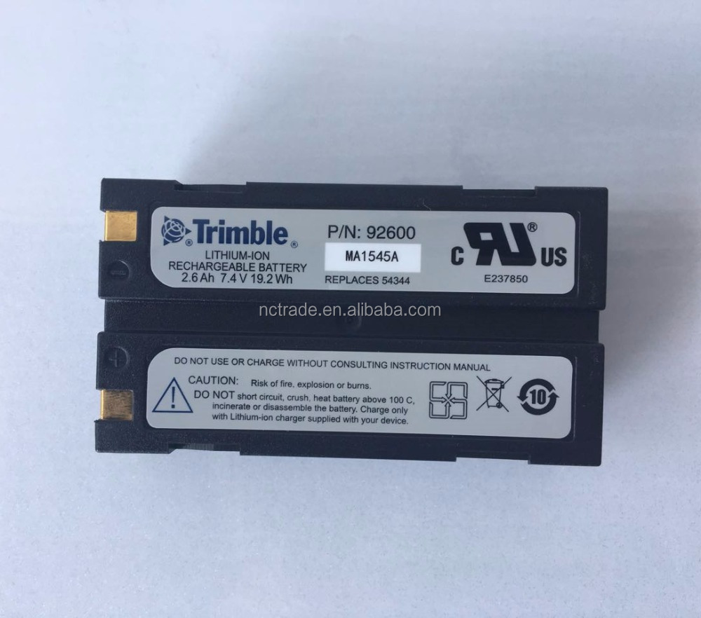 Replacement for Trimble GPS Battery 2600mAh, 7.4V, Li-Ion 2 Pack ...