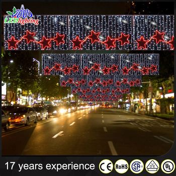 wholesale outdoor across street motif lights for commercial street decoration