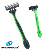 D316L TPR rubber&ABS plastic handle shaving device for holding easily