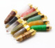 Charming Colorful quartz bullet shape healing crystal gold plated pendant for necklace making