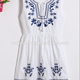 2017 summer Europe and the United States embroidery vest summer dress Long skirt high waist embroidered bohemian dress