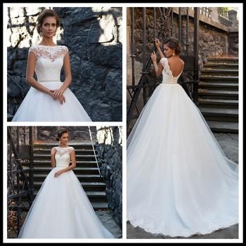 2017 Modern Simple Elegant Plus Size Cheap Ball Gown Wedding Dresses ...
