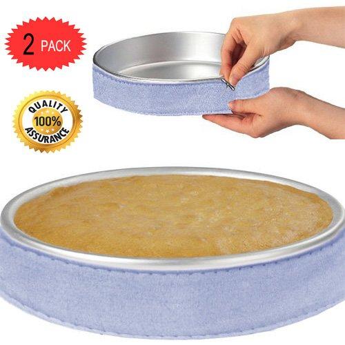 Cake Strips Cake Pan Strips Bake Even Strip Bake Even Cake Strips Bake Even Strip Set for Even Baking by MSART (2pack)