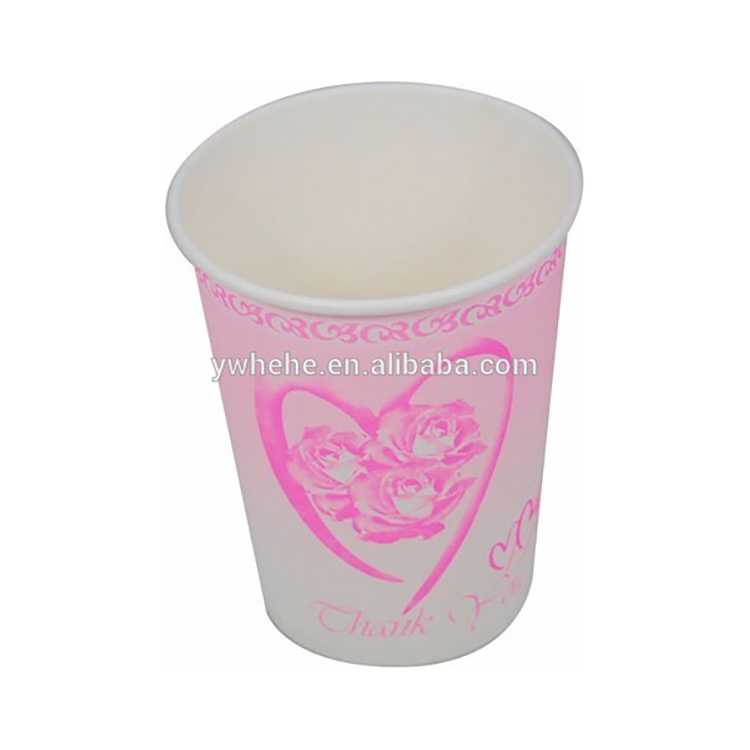 YiWu Disposable Paper Tea Cup With Heart