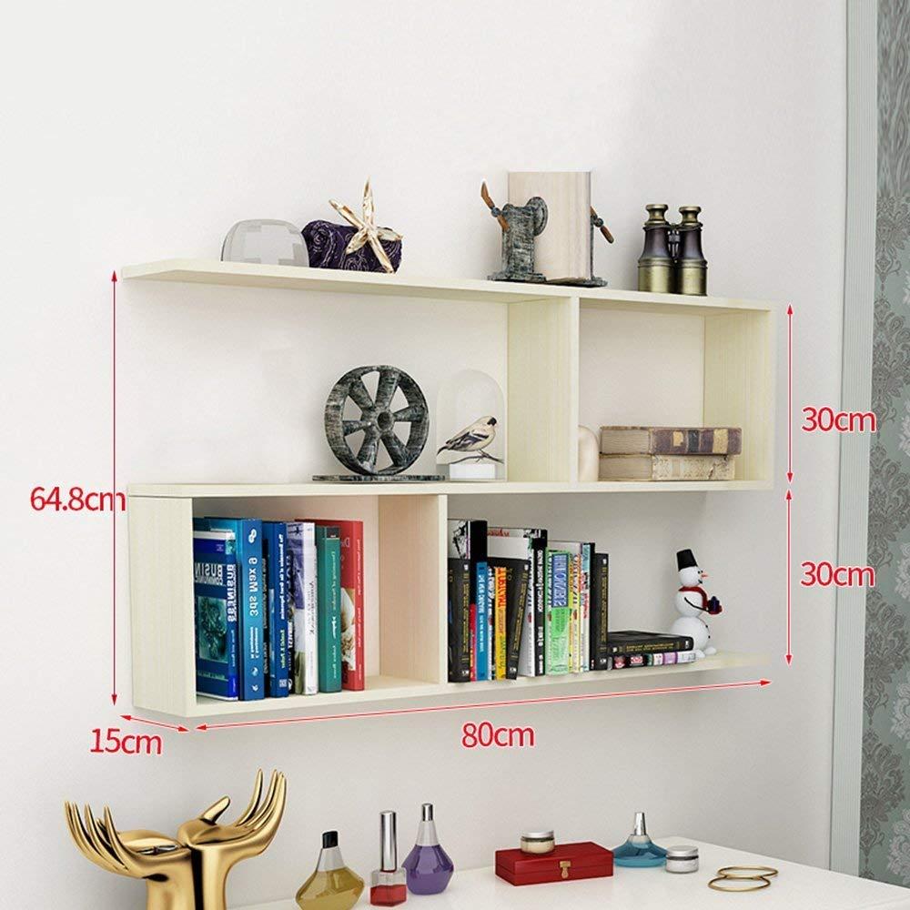 Bookshelf CHUNLAN Simple Modern Fashion Walls Wall-mounted Shelves Bedroom Study Living Room Closet Bookcase High Capacity 80/100/1201564.8cm