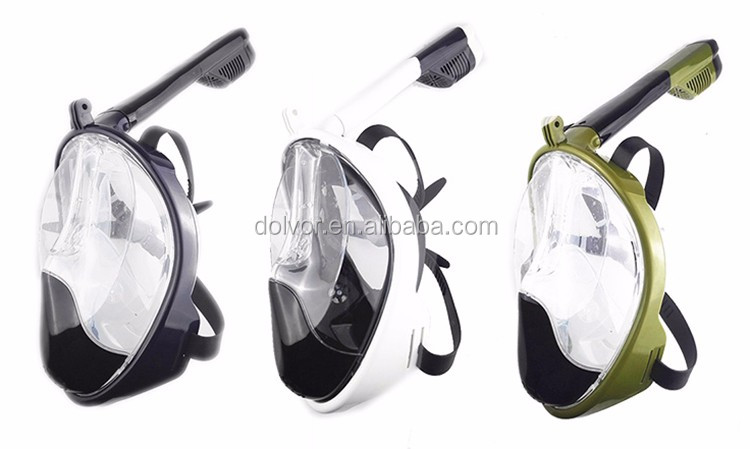Snorkeling swimming masks for diving full face mask diving snorkel set