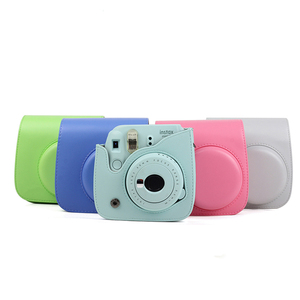 Wholesale PU leather bag instant camera bag for fujifilm instax mini 9