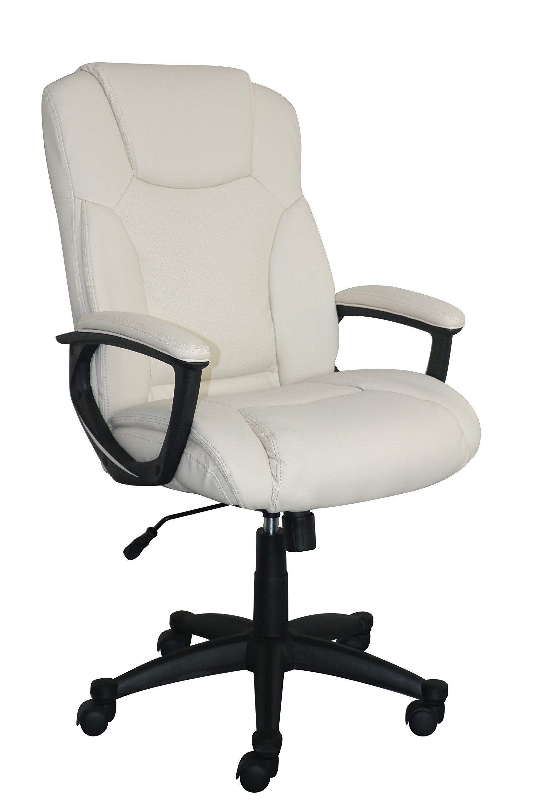Serta Style Hannah II Office Chair, Bonded Leather, Ivory