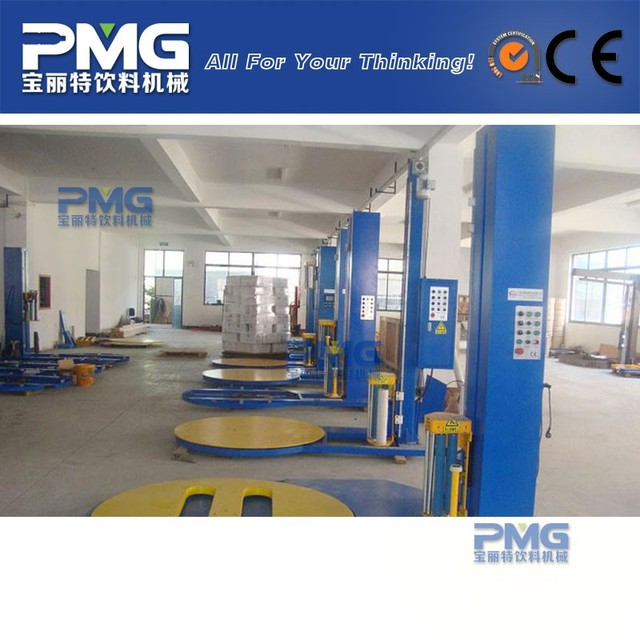 PMG Automatic Shrink Pallet Wrapping Machine / Top Plate Stretch Pallet Packing Equipment
