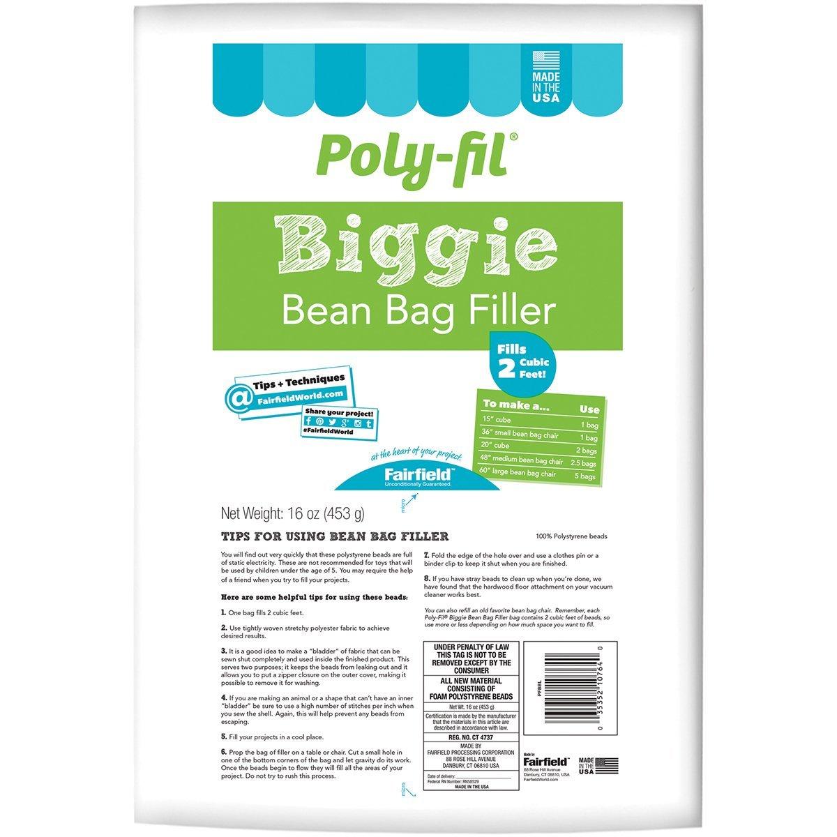 ddb92532a4 Fairfield Faipfbbi Filler Poly Biggie Bean Bag
