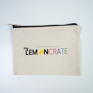 Customized cosmetic travel bag cotton makeup pouch