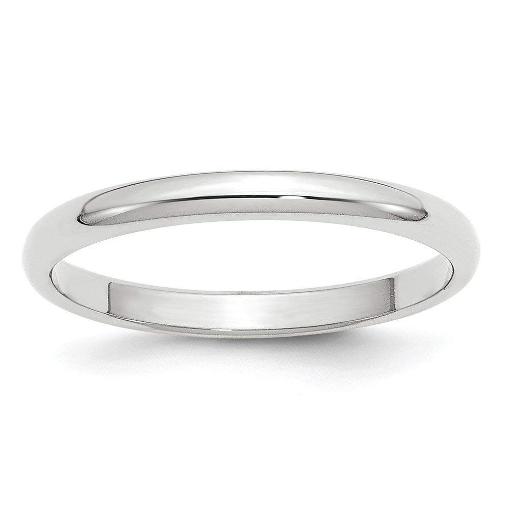 Perfect Jewelry Gift 14KW 2.5mm Half Round Band Size 5