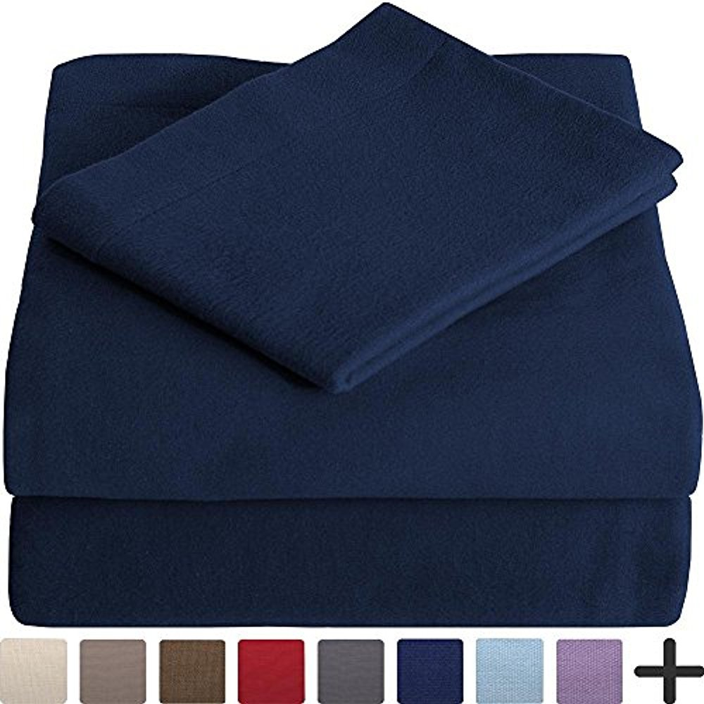 ebdcefe612f4 Get Quotations · 100% Cotton Velvet Flannel Sheet Set - Extra Soft  Heavyweight - Double Brushed Flannel -