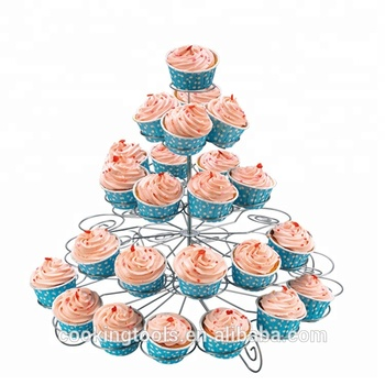 YZ1110-5 5 Tier Metal Wedding Fountain Cake Cupcake Stand