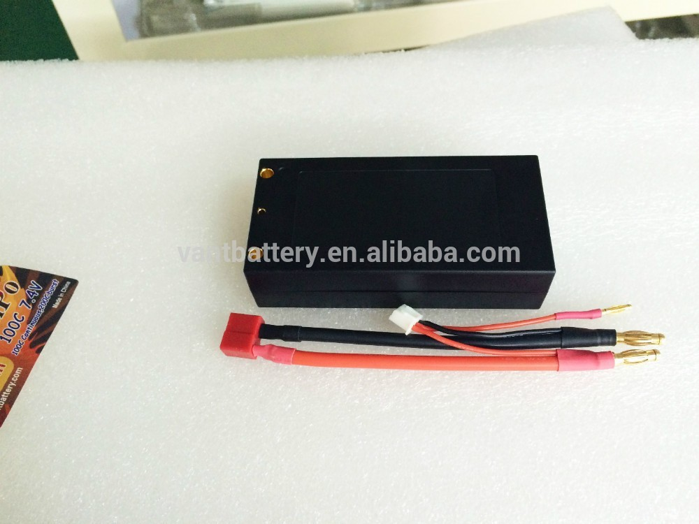 high end shorty lipo Vant ROAR 4mm bullet rc lipo battery 5000mah 2-cell 100c 7.4v shorty Battery Pack WITH HIGH C-Rating