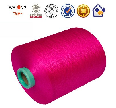 no MOQ 150/48 DTY polyester material yarn over 60 stock colors AA grade
