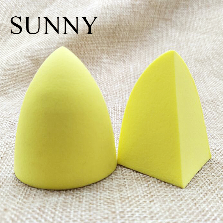 New Makeup Sponge Yellow Special Triangle Shape Cosmetic Sponge