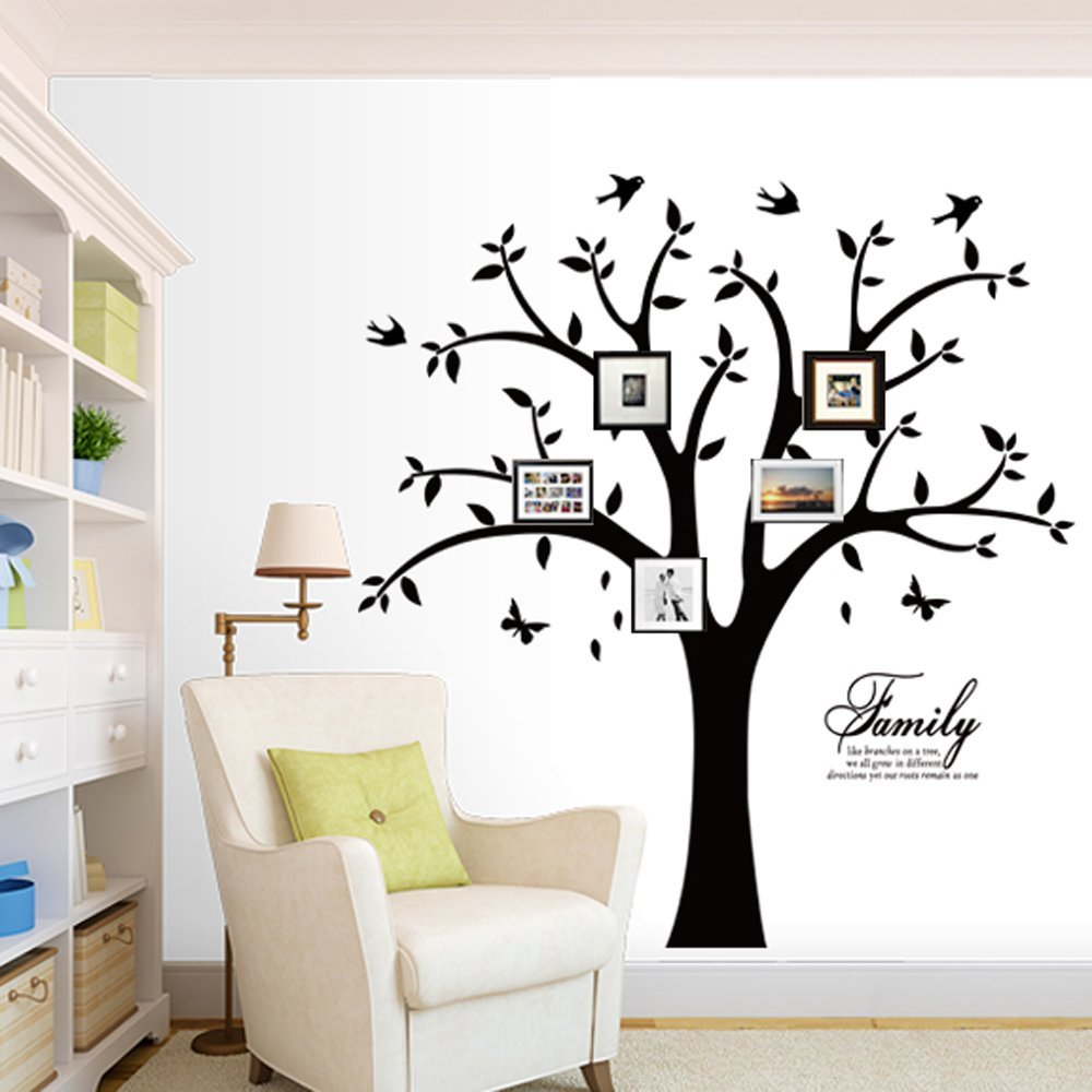 70a10ee9ea Get Quotations · Family Photo Tree Wall Decal Stickers Living Room Home  Decal Bed Baby Room Wall Decals,