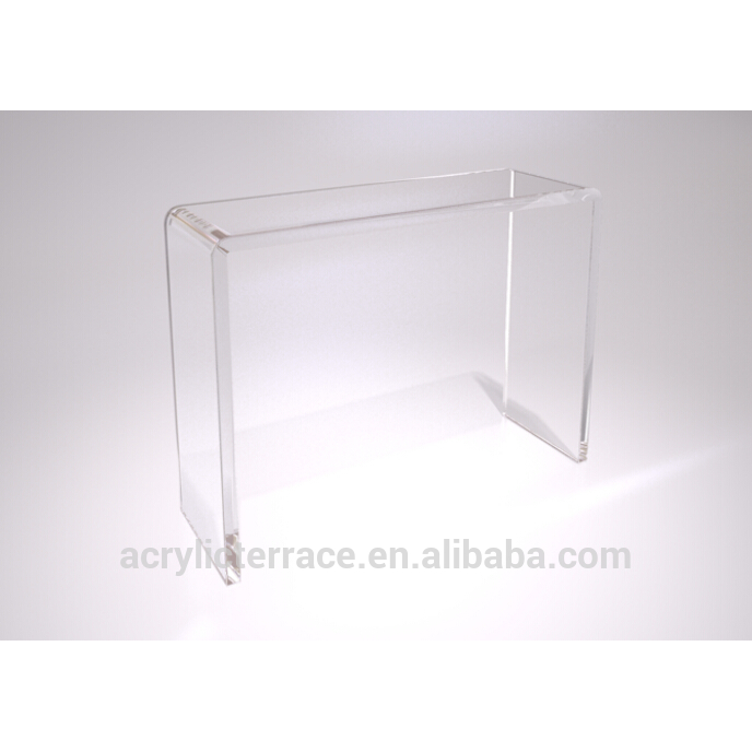 Cheap Clear Acrylic Waterfall Tall Console Table Buy Acrylic - Acrylic waterfall table