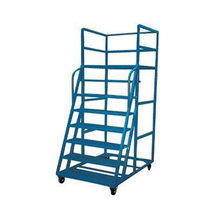 Steel Movable Climbing Step Ladder Trolley