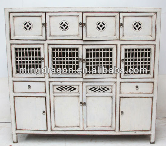 Natural Pine Kitchen Cabinets: Chinese Antique Natural Reclaimed Wood Rustic Style