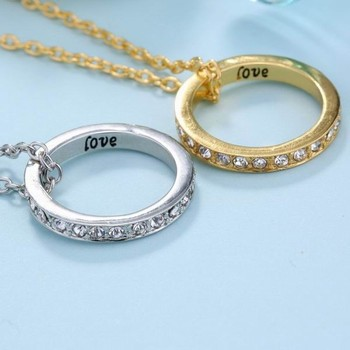 fashion korean jewelry vintage love letter wedding ring holder necklace gift for men - Wedding Ring Holder Necklace
