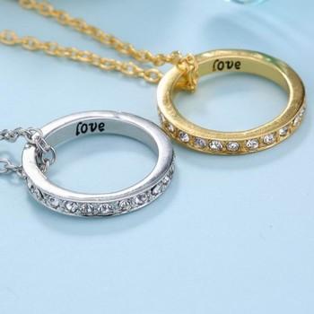 fashion korean jewelry vintage love letter wedding ring holder necklace gift for men - Wedding Ring Holder Necklace