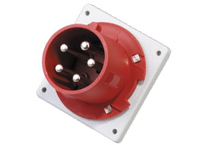 Waterproof industrial panel mounted plug and socket 400V 32A 5P IP67