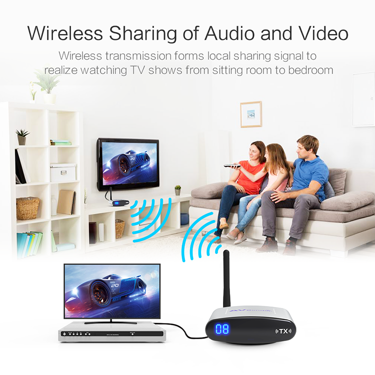 2.4GHz 480P Wireless Record Player with IR for Wireless Audio Video Transmitter PAT-225
