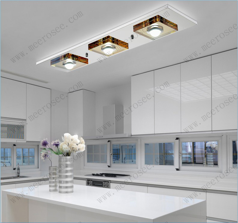 Luxury Celling Light Crsystal Chandelier Cell Modern Ceiling Light Rectangle MD6035 L3