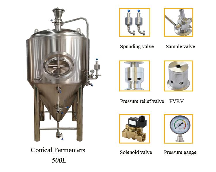 500L hotel/pub micro beer brewing equipment