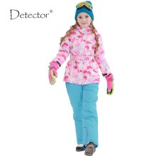 Detector Girls ski jacket Winter Outdoor Children Clothing Set Windproof Ski Jackets + Pants Kids Warm Skiing Suit For Girls