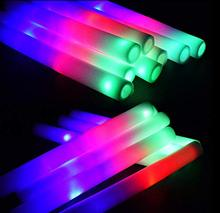 Light Up Multi Color Led Foam Vara Varinhas Rave <span class=keywords><strong>Luz</strong></span> Intermitente Varas <span class=keywords><strong>Bastões</strong></span> Elogio
