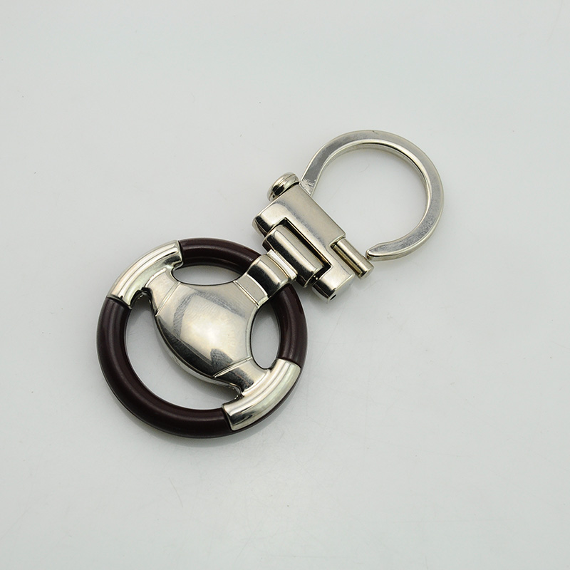 Fashion Key Holder Steering Wheel Shape Key Chain Car Parts Keychain