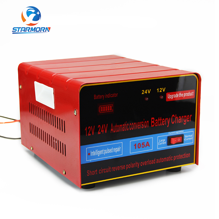 Portable Jump Starter 12v 24v Battery Charger, Lead-acid Battery Charger For Motorcycle