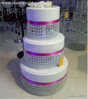 2019 New Design Cake Decorating Crystal Plastic Wedding Cake Stands