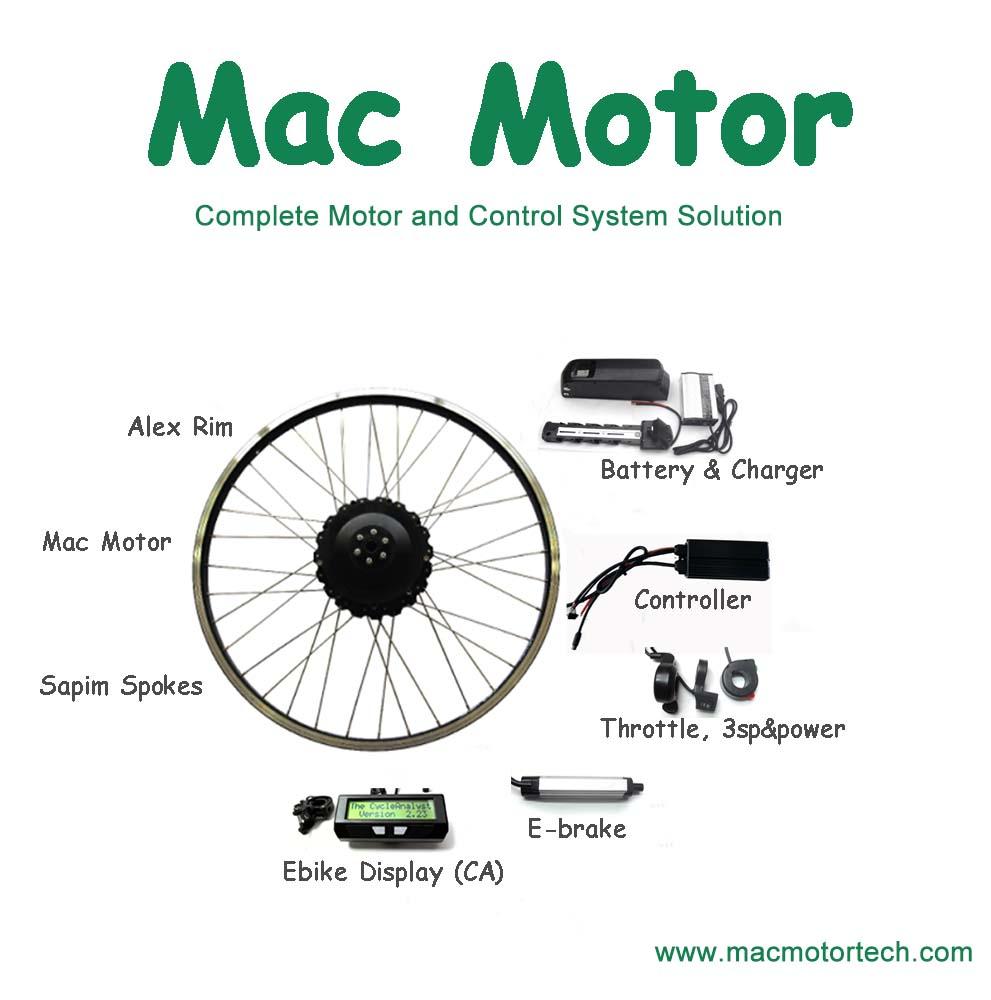 Mac internal 5:1 planetary gear with clutch electric bicycle hub motor