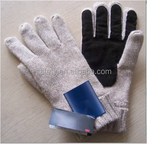 pig leather palm warmful lining winter driving gloves 50% wool 50% acrylic safety hand gloves