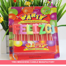 15 piece feliz cumpleanos alphabet birthday candle