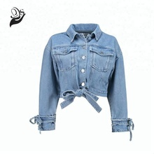 2019 nouvelle conception de mode femmes denim manteau printemps court jean veste