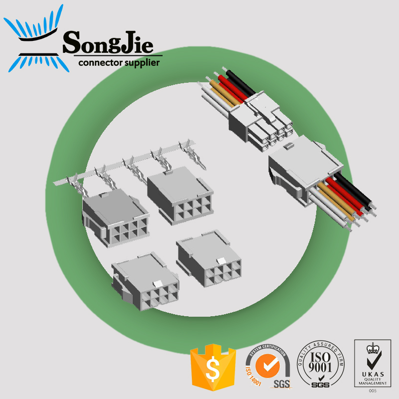 female to male power connector molex mini fit series 4.2mm crimp terminal dual rows molex 5559 mate with 5557