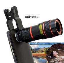 Universal 8X Optical Zoom Telescope Camera Mobile Phone Lens For samsung galaxy J1 J2 J3 J5 J7 A3 A5 A7 A8 glass + metal lenses